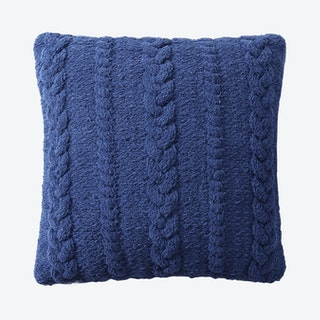 Braided Throw Pillow - Navy
