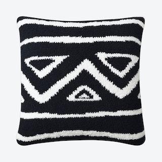 Tetouan Throw Pillow - Black
