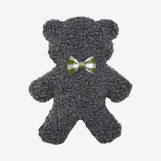 Gingham Adventure Lavender Bedtime Bear - Charcoal / Forest