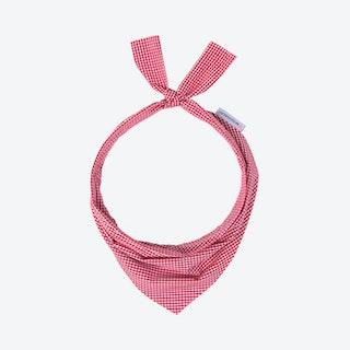 Gingham Dog Neckwear - Red