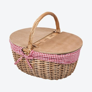Country Basket - Red / White