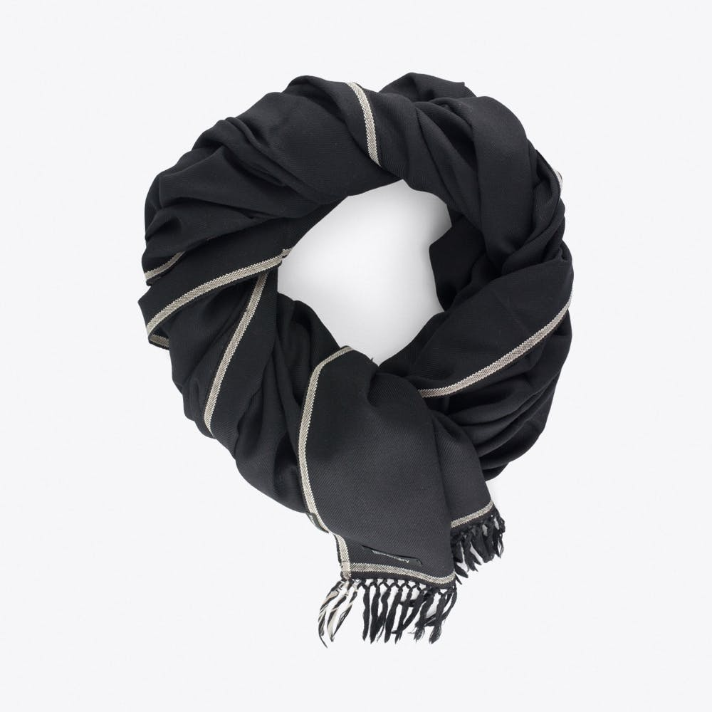 Shoreditch Merino Blanket Scarf in Black