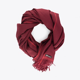 Shoreditch Merino Blanket Scarf in Bordeaux