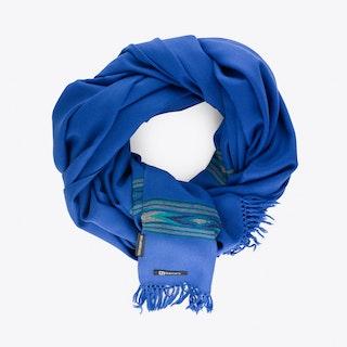 Takhi Merino Blanket Scarf in Cobalt