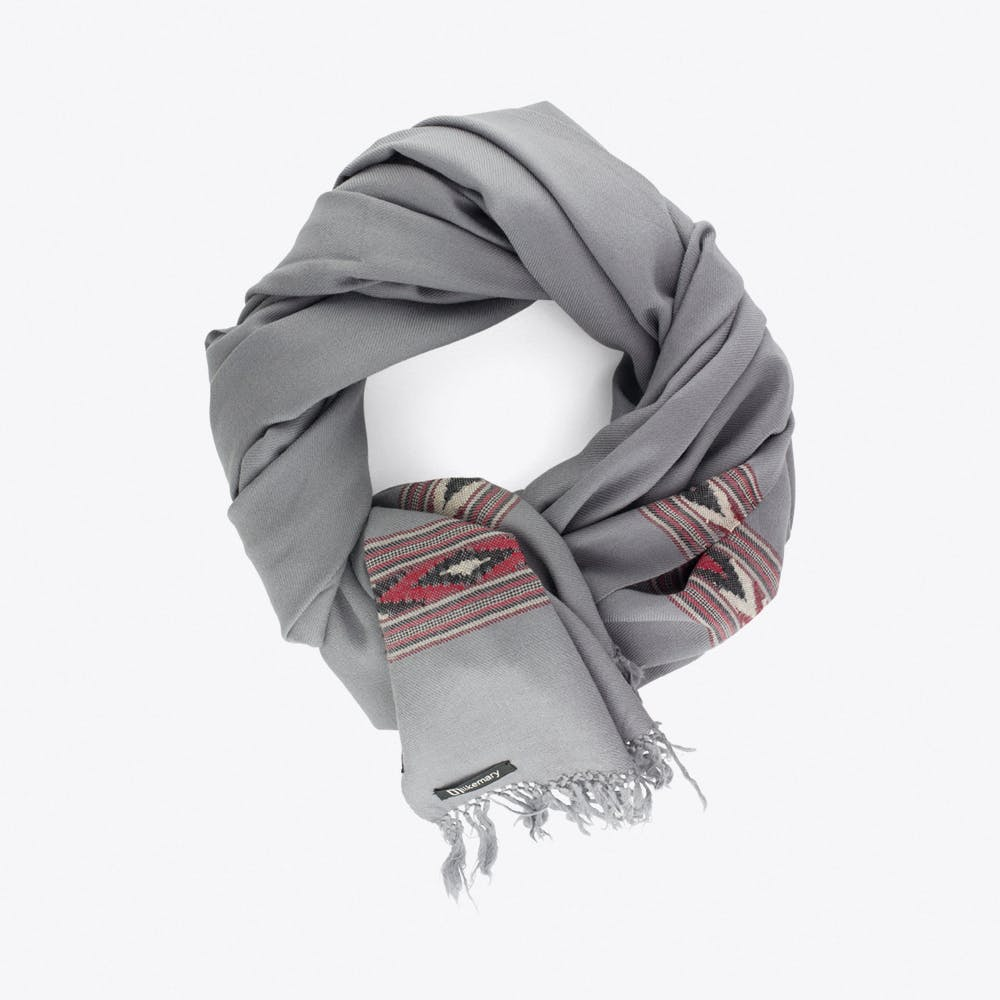 Takhi Merino Blanket Scarf in Grey
