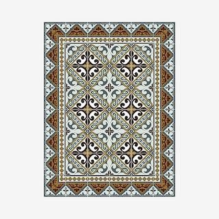 Fleur de Lys Floor Mat - Brown