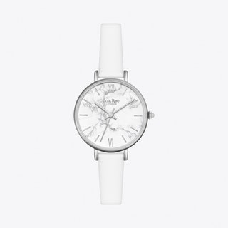 White Howlite Watch in Silver & White Strap