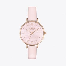 Rose Quartz Watch in Gold & Pale Pink