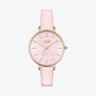 Rose Quartz Watch in Gold & Pale Pink