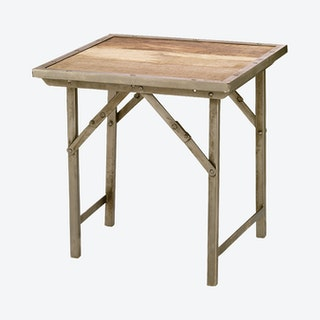 Campaign Side Table - Natural