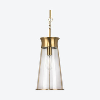Nara Pendant Lamp - Clear / Antique Brass