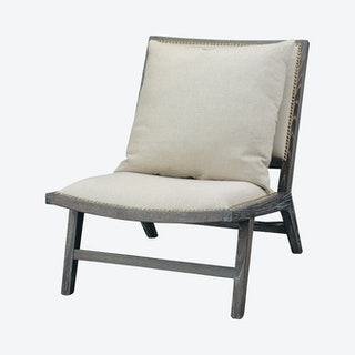 Baldwin Chair - Off White / Dark Wood