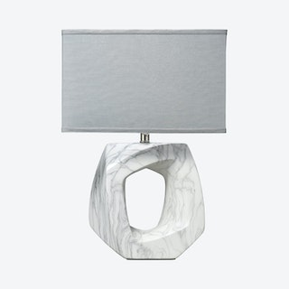 Quarry Table Lamp with Rectangle Shade - Grey