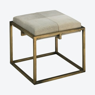 Shelby Stool - White - Hide