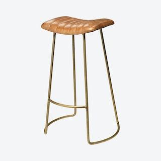Luke Bar Stool - Brown / Gold