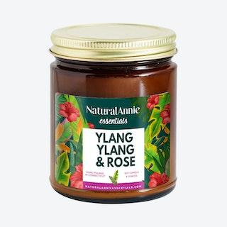 Scented Soy Candle - Ylang Ylang & Rose
