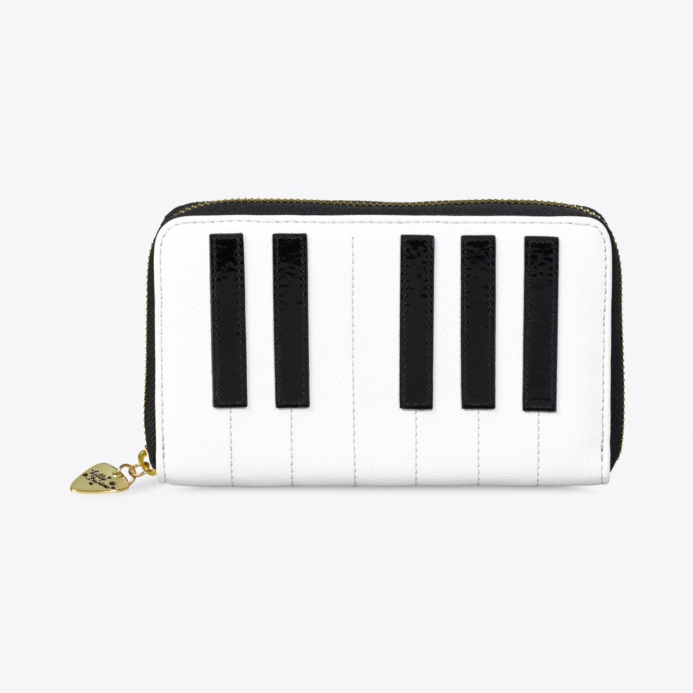 Piano Keys Zip Purse