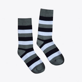 Stripes Socks in Black, White & Grey