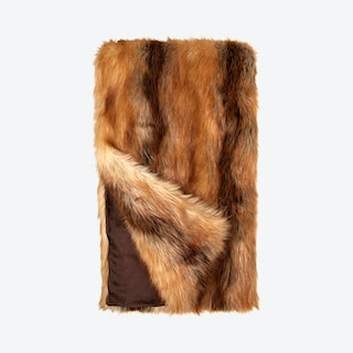 Limited Edition Throw - Red Fox - Faux Fur