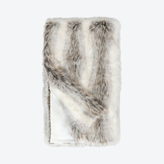 Limited Edition Throw - White / Grey Tundra Wolf - Faux Fur