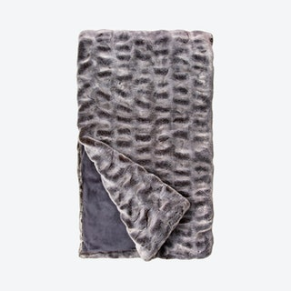 Mink Couture Collection Throw - Glacier Grey - Faux Fur