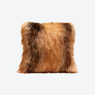 Limited Edition Square Pillow - Red Fox - Faux Fur