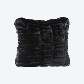 Couture Collection Square Pillow - Onyx Mink - Faux Fur