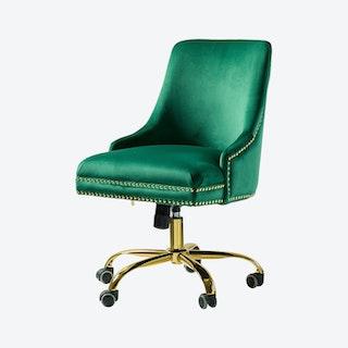 Bella Task Chair - Green - Velvet