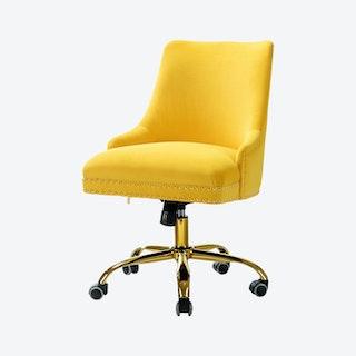 Bella Task Chair - Yellow - Velvet
