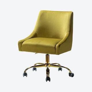 Carina Task Chair - Yellow - Velvet