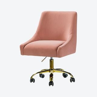 Carina Task Chair - Pink - Velvet