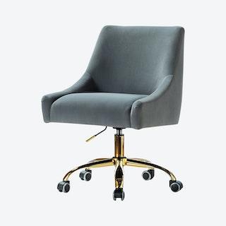 Carina Task Chair - Grey - Velvet
