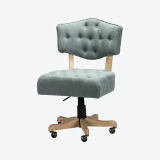 Camila Task Chair - Blue - Linen