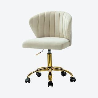 Ilia Task Chair - Tan - Velvet