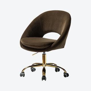 Savas Task Chair - Brown - Velvet