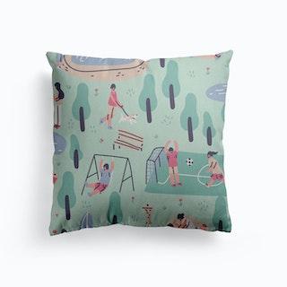 Spring Canvas Cushion