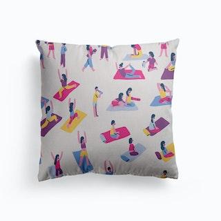 Yoga Canvas Cushion