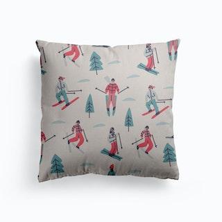 Ski Canvas Cushion