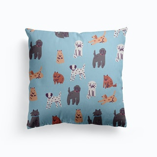 Doggies Canvas Cushion