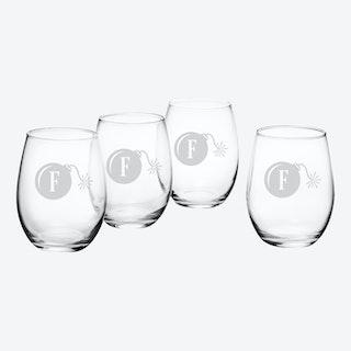 F-Bomb Stemless Wine Glass - Set of 4
