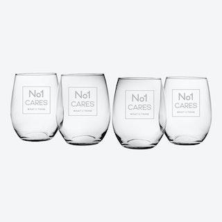 No1 Cares Stemless Wine Glass - Set of 4