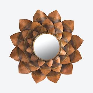 Leaf Mirror - Antique Gold
