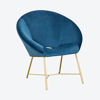 Nolan Chair - Navy - Velvet