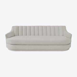 Peyton Sofa - Light Grey - Velvet