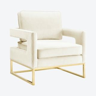 Avery Chair - Cream / Gold