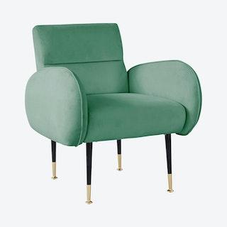 Babe Chair - Mint Green / Black - Velvet