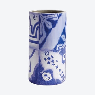 Porto Vase Large - Blue / White - Terra Cotta