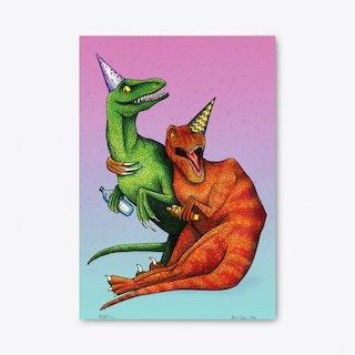 Raptors on Tour A3 Art Prints