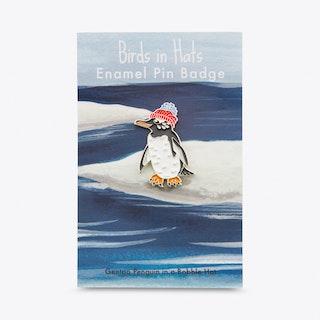 Penguin in Bobble Hat Pin
