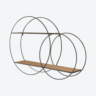Double Circle Wall Unit with Shelves